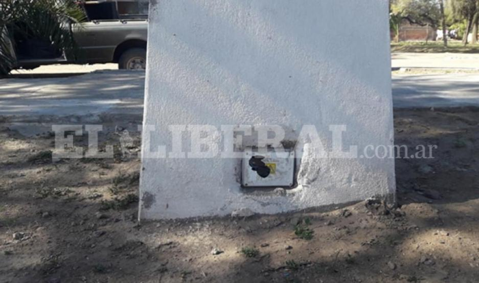 Uno de los sectores afectados en el Paseo Sarmiento fue el sistema eléctrico.
