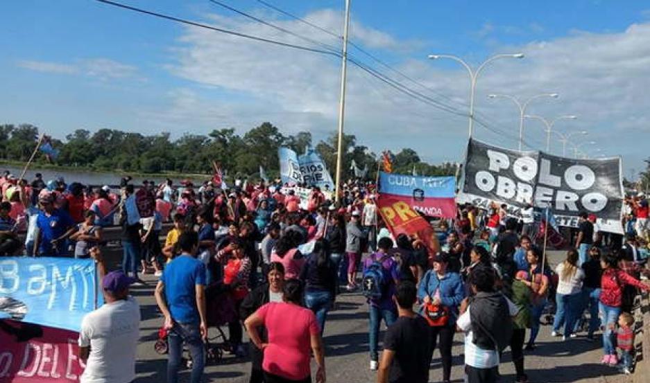 CORTES. La protesta contra el Gobierno nacional cubrió todo el país.