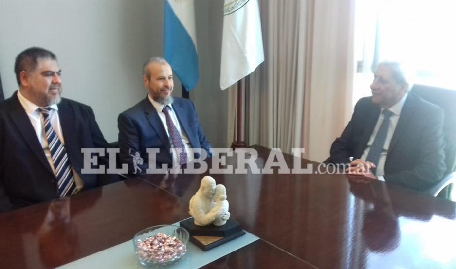 El encuentro con el funcionario árabe se desarrolló esta mañana, en el despacho del vicegobernador.