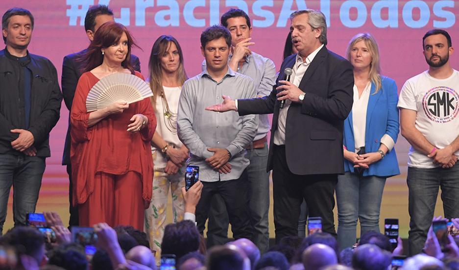 La fórmula Fernández-Fernández comenzará a gobernar a partir del 10 de diciembre.
