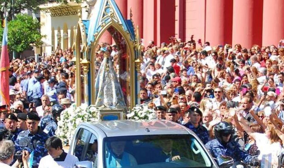 Los fieles llegaron desde distintos puntos del país para participar de los actos centrales.