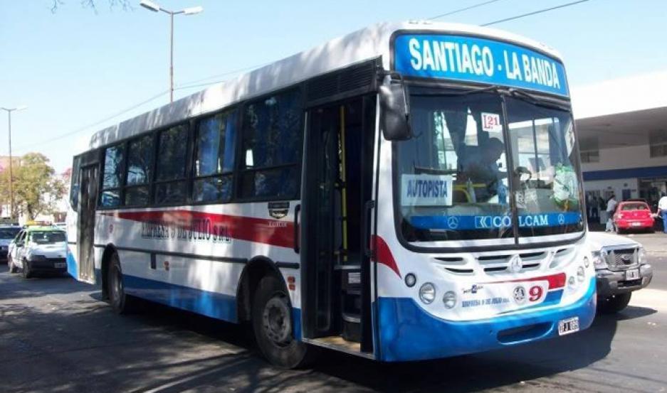 El paro afectará a unos 10 mil pasajeros que viajan desde Santiago, hacia La Banda, Clodomira y Fernández, respectivamente.