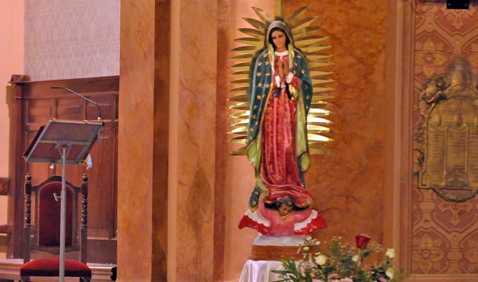Invitan a toda la comunidad a participar de los actos religiosos en honor a la Virgen de Guadalupe.